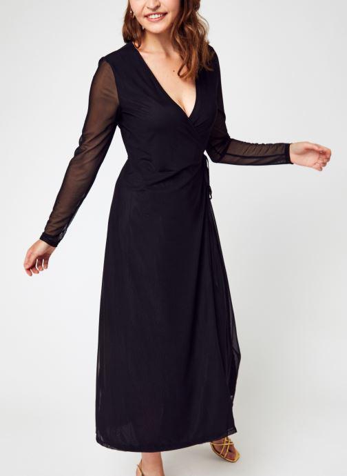 Vêtements NA-KD Overlap Midi Dress Noir vue détail/paire