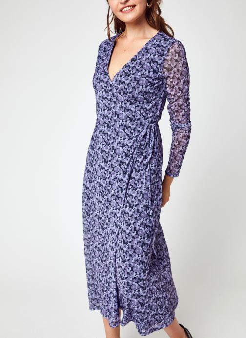 Vêtements NA-KD Overlap Midi Dress Violet vue détail/paire