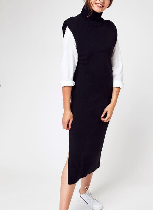 Abbigliamento Accessori Padded High Neck Midi Dress