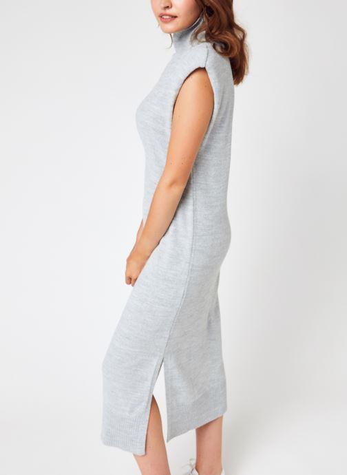 Kleding Accessoires Padded High Neck Midi Dress