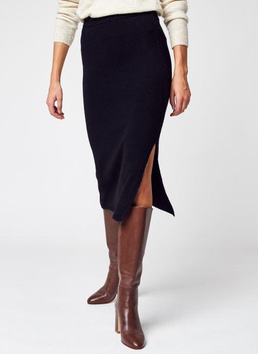 Vêtements NA-KD Side Slit Midi Skirt Noir vue détail/paire