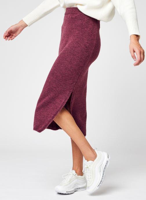 Vêtements NA-KD Side Slit Midi Skirt Violet vue détail/paire