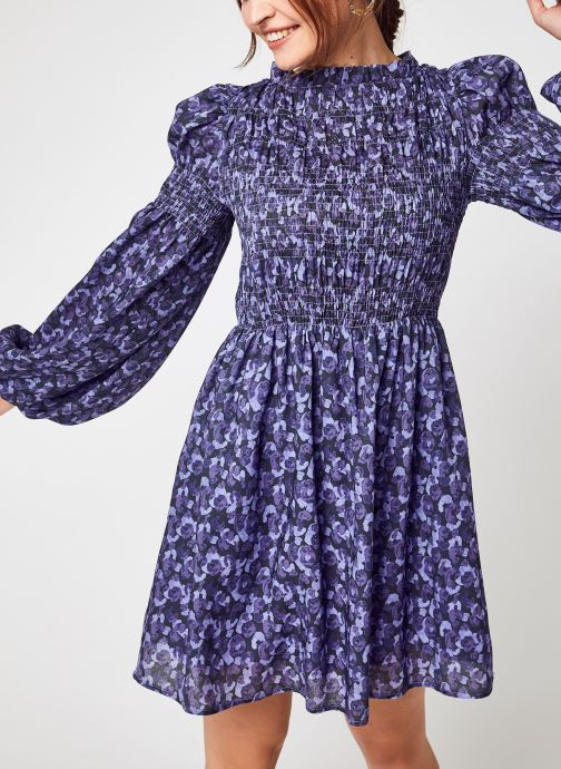 Ropa Accesorios High Neck Smocked Mini Dress