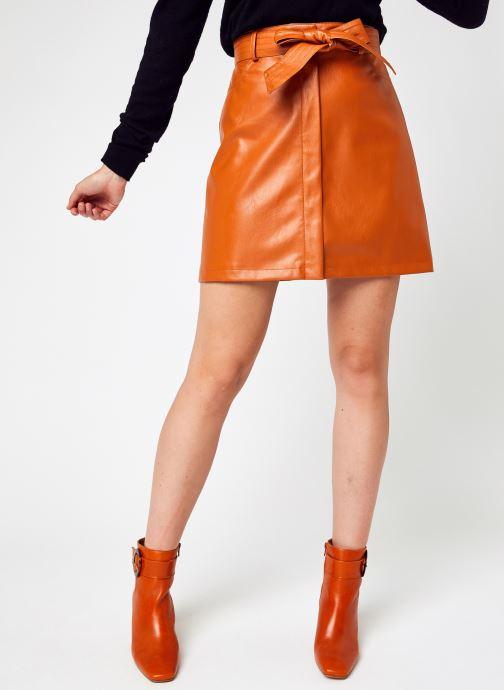 Kleding Accessoires Belted PU Mini Skirt