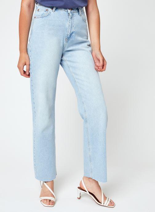 Abbigliamento Accessori Straight High Waist Raw Hem Jeans