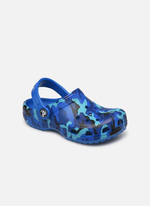 Sandalen Crocs Classic Printed Clog K blau detaillierte ansicht/modell