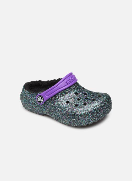 Chaussons Crocs Classic Glitter Lined Clog K Vert vue détail/paire