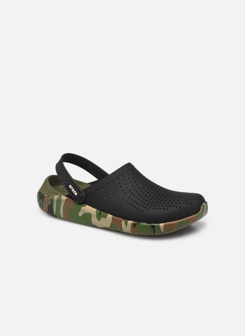 Sandalias Crocs LiteRide Printed Camo Clog M Negro vista de detalle / par