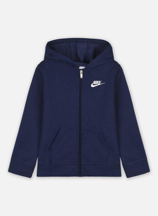Vêtements Nike Club Fleece Fz Hoodie Bleu vue détail/paire