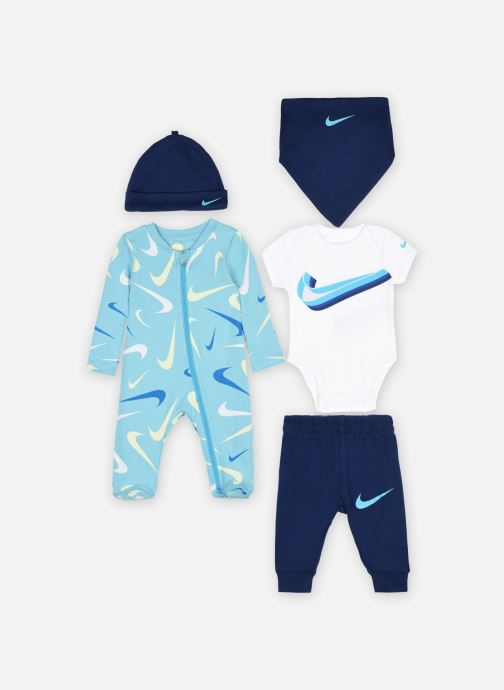 Vêtements Nike Nkn Swooshfetti Parade 5Pc Set Bleu vue détail/paire