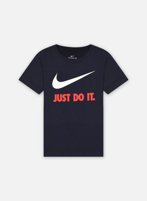 Vêtements Nike Swoosh Jdi Ss Tee Bleu vue détail/paire