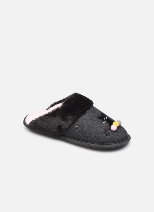 Pantoffels Dames Mule Plate – Feutrine Et Fourrure W