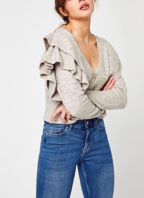 Abbigliamento Accessori Nmlilje L/S Frill V-Neck Knit Cardigan