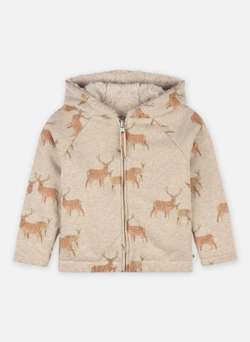 Vêtements Arsène et les Pipelettes Blouson capuche sherpa double Beige vue détail/paire