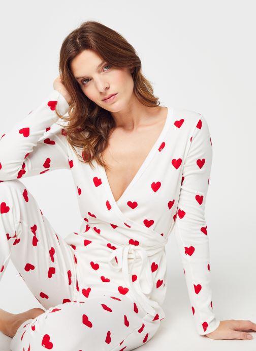Abbigliamento Accessori Haut de pyjama cache coeur manches longues Femme