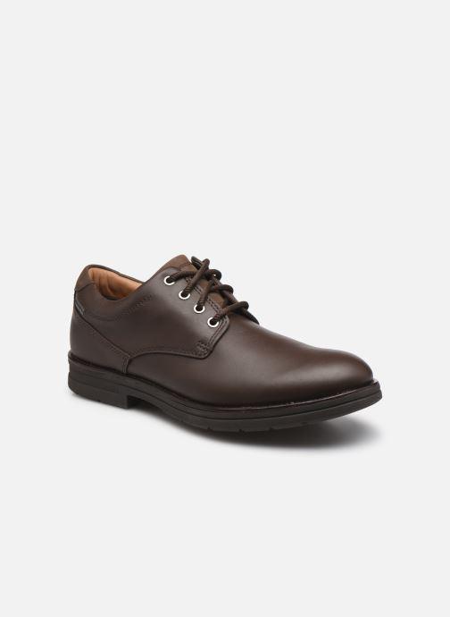 Chaussures à lacets Clarks Unstructured Banning LoGTX Marron vue détail/paire