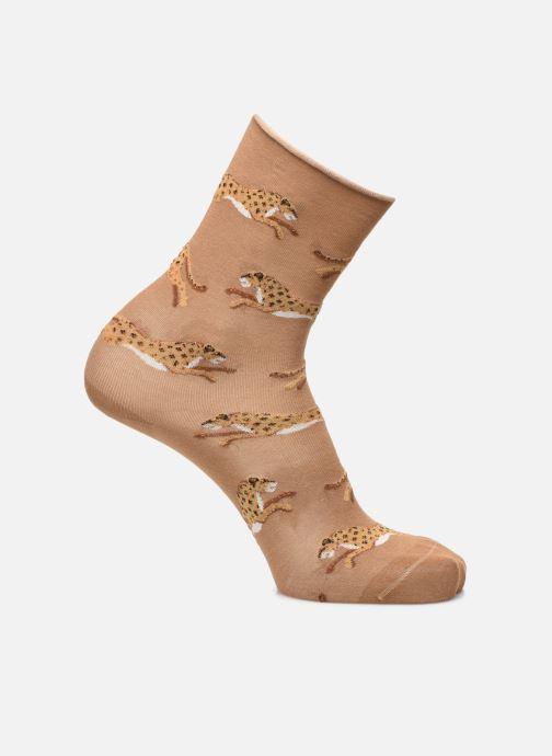 Socken & Strumpfhosen Accessoires Chaussettes Coton Motif Panthères Bord Roulé