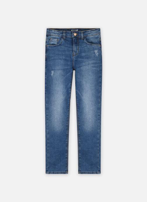 Vêtements Vertbaudet DENIM MORPHO CONSTANCE ECOFRIE Bleu vue détail/paire