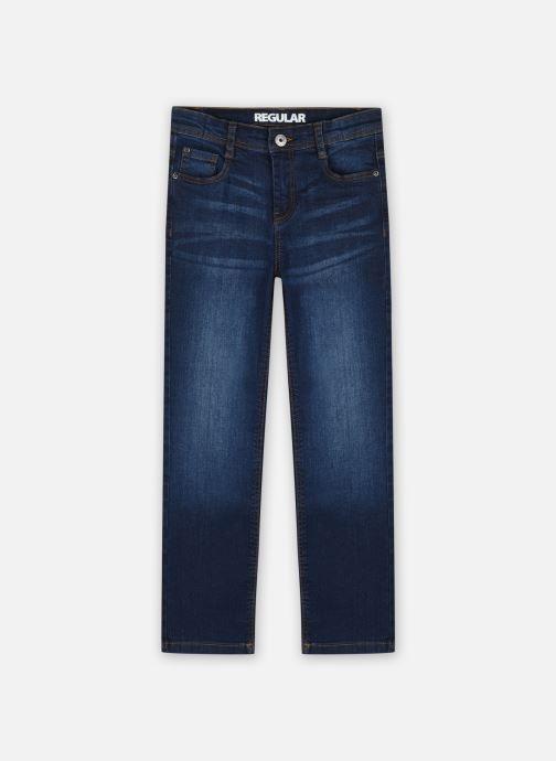Vêtements Vertbaudet DENIM MORPHO DROIT MEDIUM Bleu vue détail/paire