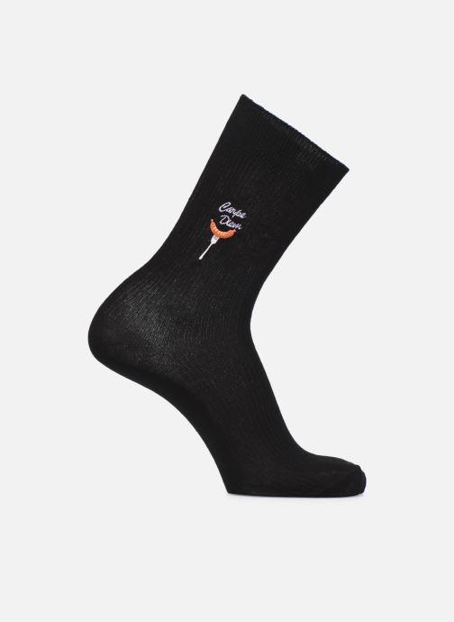 Socken & Strumpfhosen Happy Socks Ribbed Embroidery Carpe Diem S schwarz detaillierte ansicht/modell