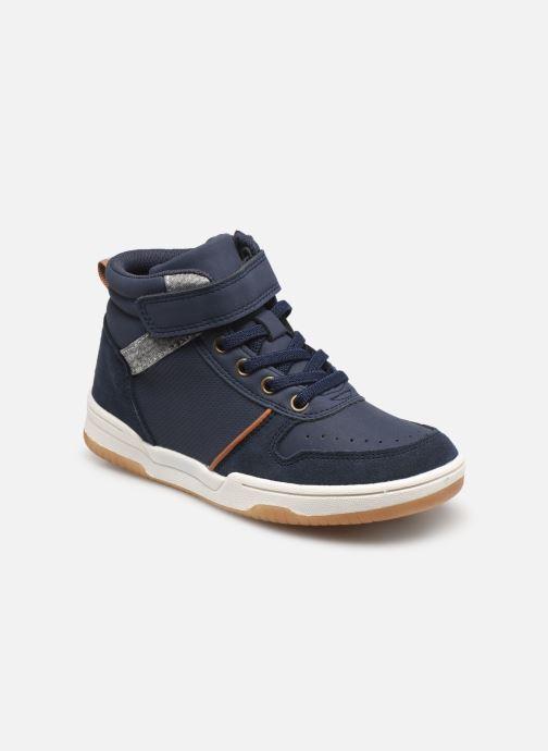 Sneaker Vertbaudet KG- Basket haute elastique str blau detaillierte ansicht/modell