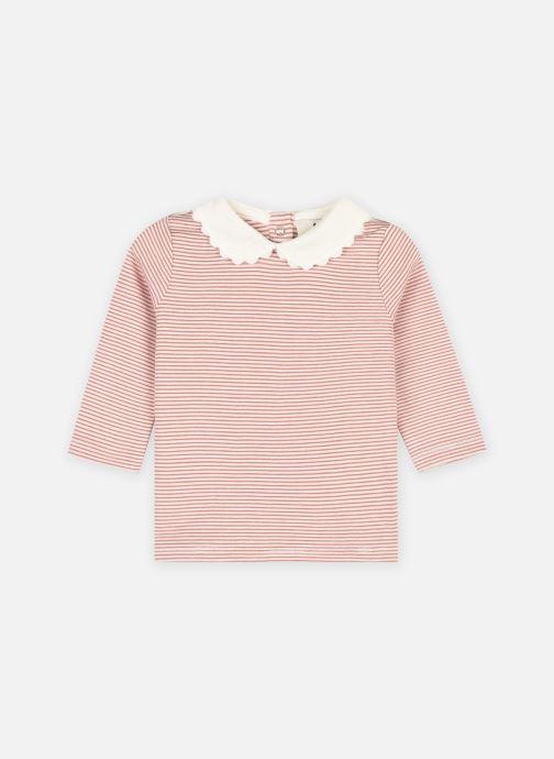 Vêtements Cyrillus Tee-shirt essentiel col claudi Rose vue détail/paire