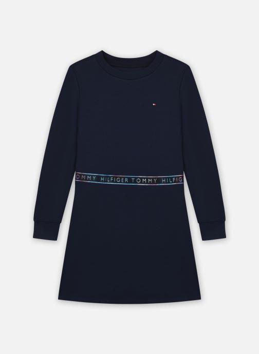 Vêtements Tommy Hilfiger Tommy Punto Tape Dress Bleu vue détail/paire