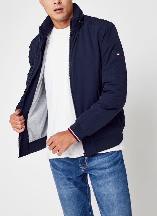 Vêtements Tommy Hilfiger Flex Stand Zip Jacket Bleu vue détail/paire