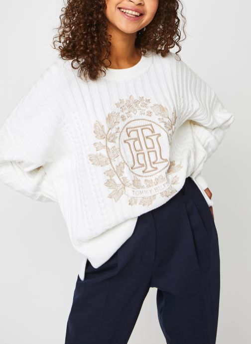 Kleding Accessoires ORG CO GRAPHIC OPEN-NK SWEATER