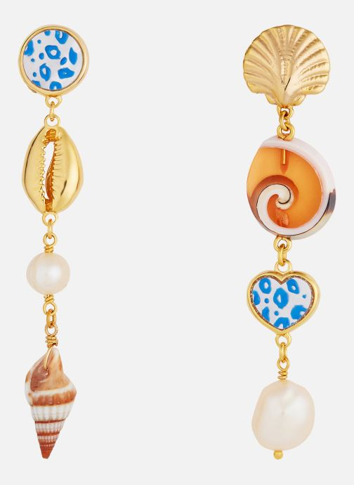 Sonstiges Les Néréides Paris Post Earrings LE GRAND LARGE gold/bronze detaillierte ansicht/modell