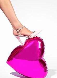 Chaussures rouge rose Saint Valentin