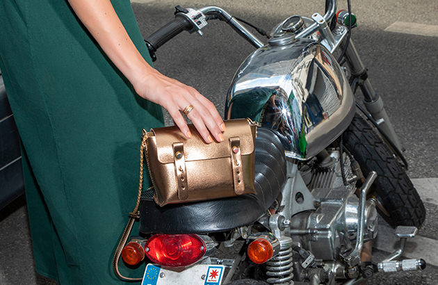 Dressing : sacs effet metallic