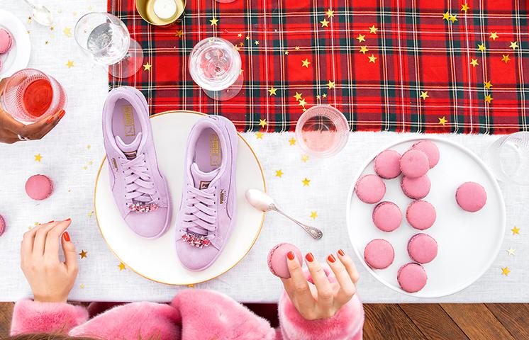 Baskets puma violettes