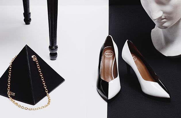 Escarpins noir et blanc