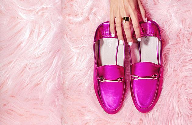 Roze mocassins