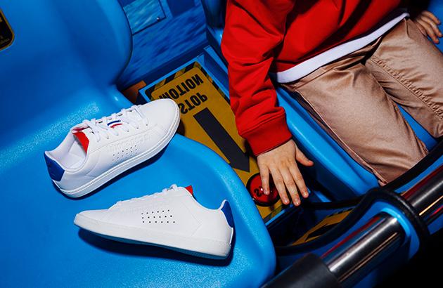Sneaker rood wit blauw