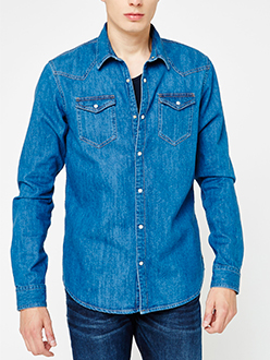 Ams Blauw denim shirt in seasonal washes