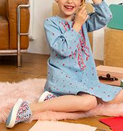 Selectie nieuwe collectie kleding kinderen SS21